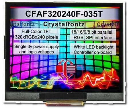 """3,5"""" TFT-Farb-Modul, ohne Touch, CFAF320240F-035-T"""