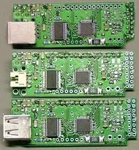 USB-Adapter für Charaktermodule von Crystalfontz - verschiedene Steckervarianten