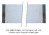 Flexkabel Raster 1,25mm, Typ A, bis 10pol, Länge 420mm