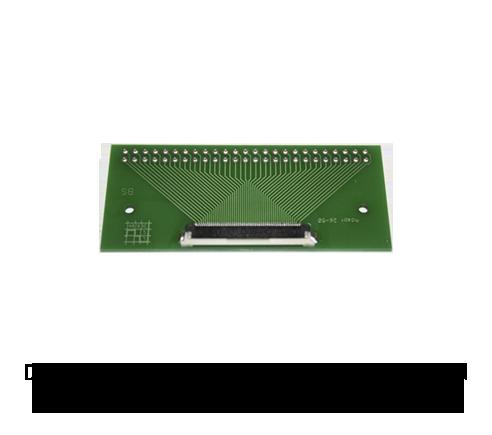 Adapterplatine Nullkraftstecker Raster 0,5mm / Lötraster 2,54mm