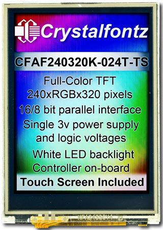 "2,4"" TFT-Farb-Modul, mit Touch, CFAF240320K-024T-TS"