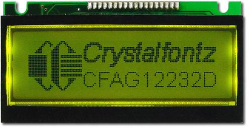 Grafik-LCD-Modul 122x32 Bildpunkten, CFAG12232D-YYH-N