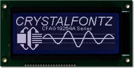 Grafik-LCD-Modul 192x64 Bildpunkten, CFAG19264A-STI-TN