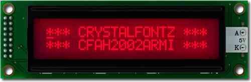 Charakter-LCD-Modul 20x2 Zeichen, CFAH2002A-RMI-JT